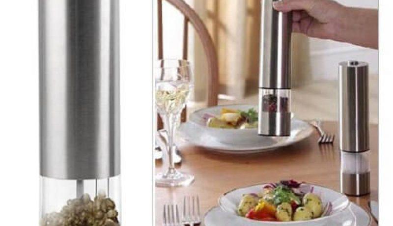 Nick and Ben Edelstahl Salz-, Pfeffermühle mit elektrischem Keramikmahlwerk im Test